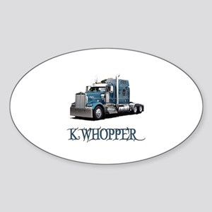 K Whopper Oval Sticker